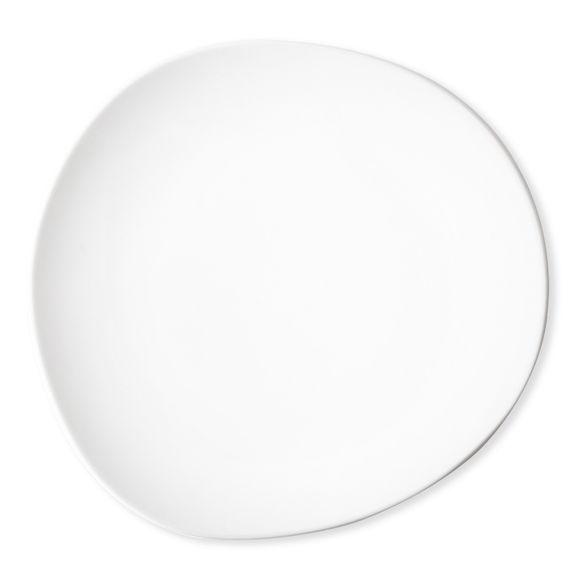 Assiette plate blanche asymétrique en porcelaine 28cm