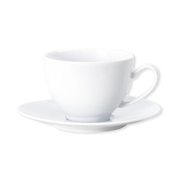 Tasse à thé blanche asymétrique en porcelaine 20cl