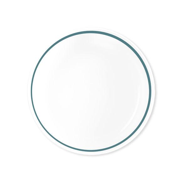 assiette creuse couleur bleu canard porcelaine fine bruno evrard. Black Bedroom Furniture Sets. Home Design Ideas