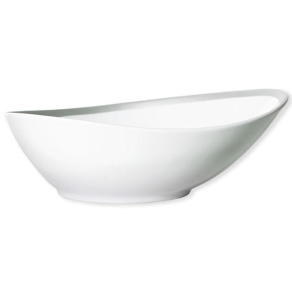 Saladier blanc/gris asymétrique 26cm
