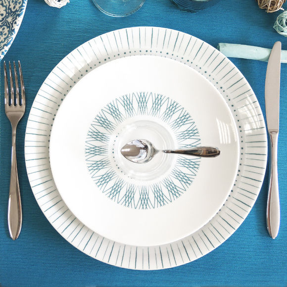 assiette plate porcelaine 27cm vaisselle chic bruno evrard. Black Bedroom Furniture Sets. Home Design Ideas