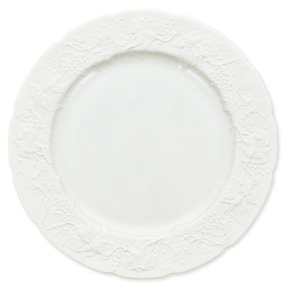 Plat rond plat en porcelaine 32cm