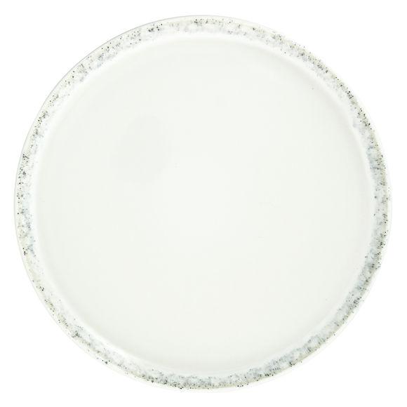 Assiette plate blanche en grès 26cm