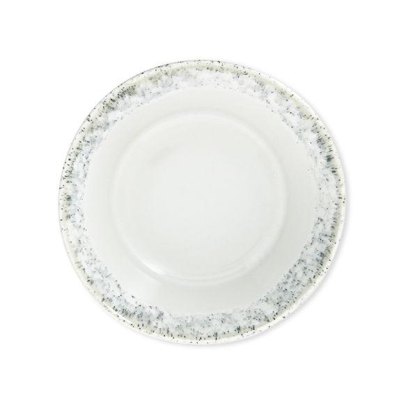 Assiette creuse blanche en grès 16cm