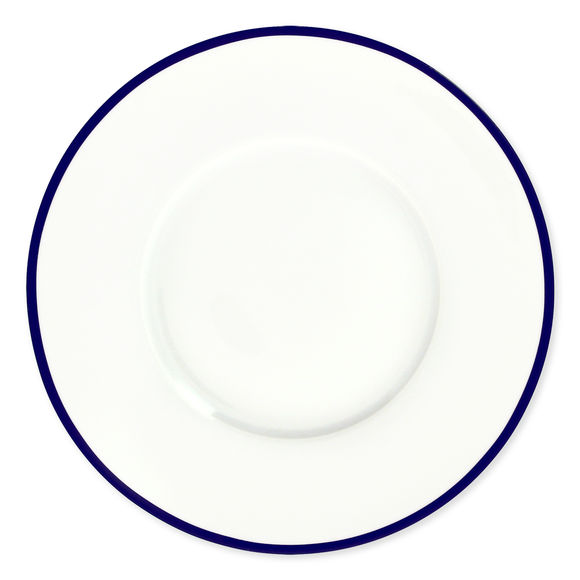 Assiette plate en porcelaine filet bleu 27cm