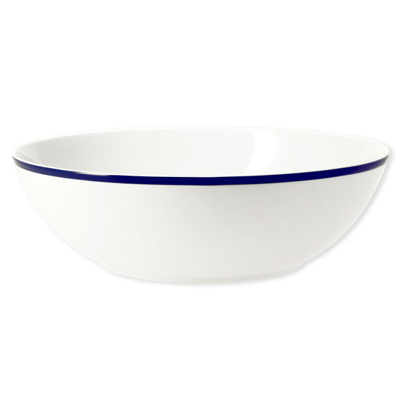 Saladier en porcelaine filet bleu 25cm