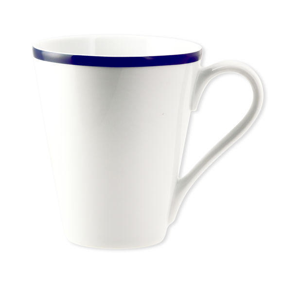 Mug en porcelaine filet bleu 30cl