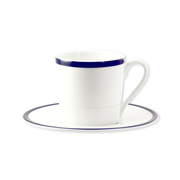 Tasse à café en porcelaine filet bleu 12cl