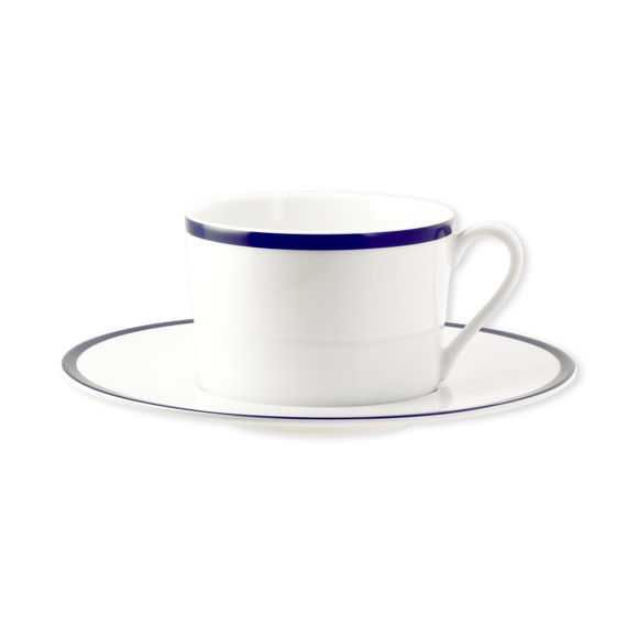 Tasse à thé en porcelaine filet bleu 22cl