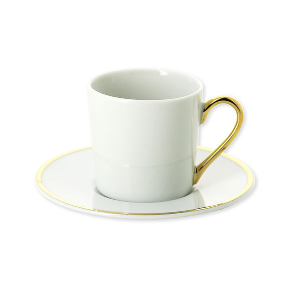Tasse à café en porcelaine filet or 12cl