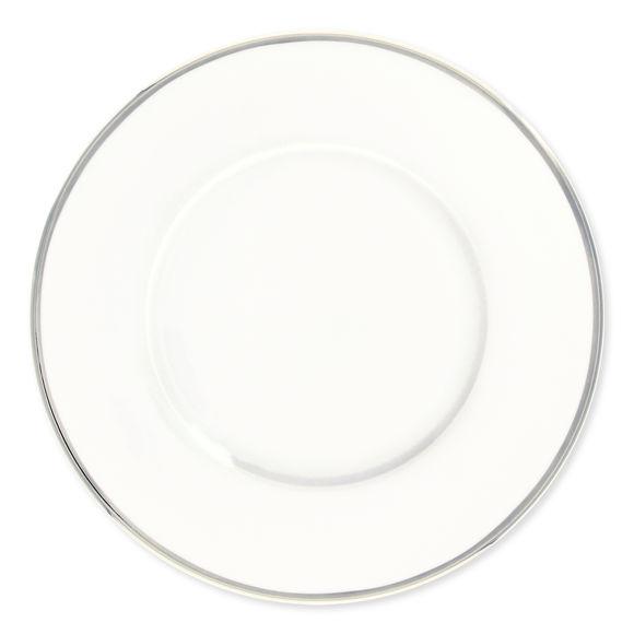 Assiette plate en porcelaine filet argent 29cm