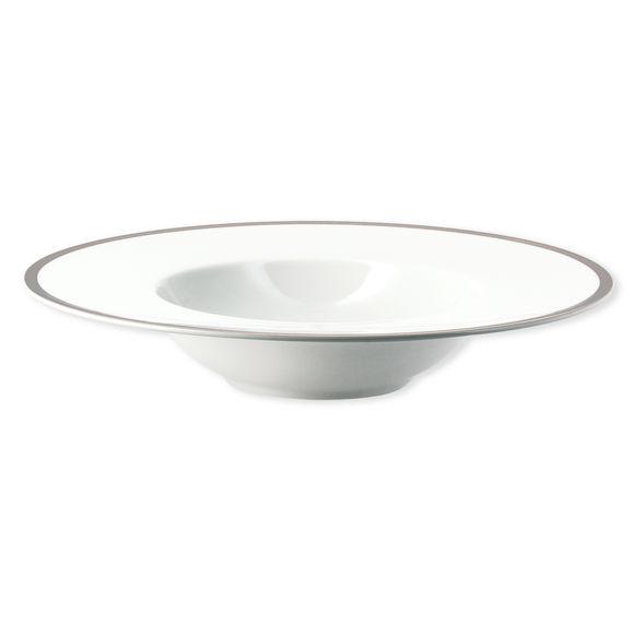 Assiette creuse en porcelaine filet argent 23 cm