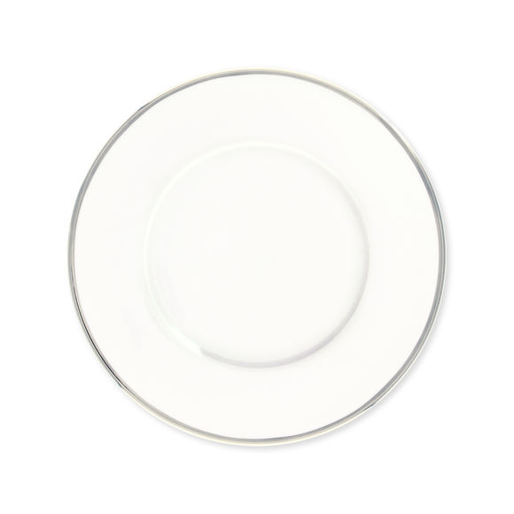 Assiette dessert en porcelaine filet argent 23cm