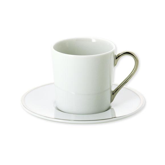 Tasse à café en porcelaine filet argent 12cl
