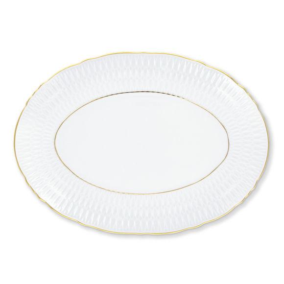 Plat ovale en porcelaine 33x24cm