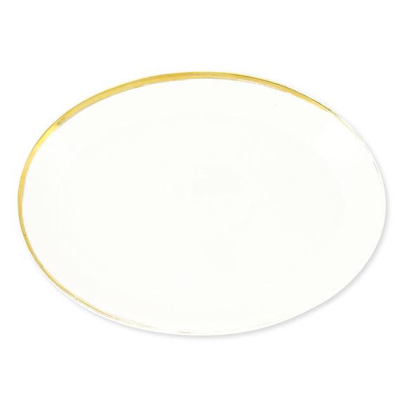 Plat ovale en porcelaine 34x24cm