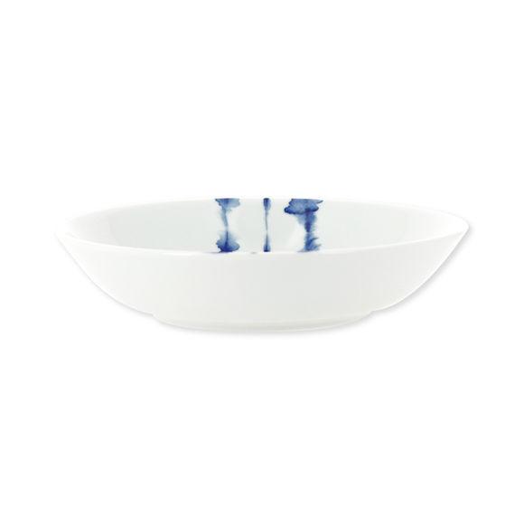 Assiette creuse en porcelaine décor bleu 18cm