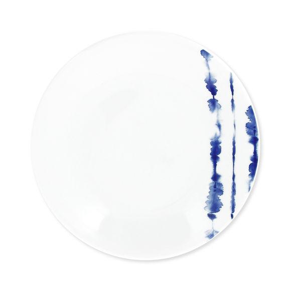 Assiette dessert en porcelaine décor bleu 21cm