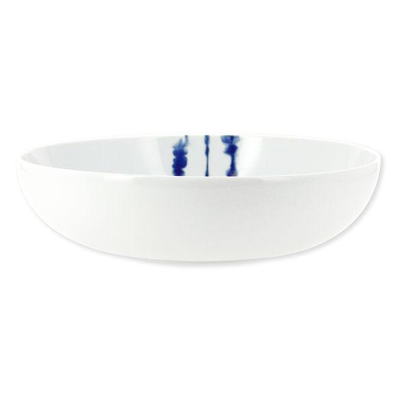 Saladier en porcelaine décor bleu 27cm