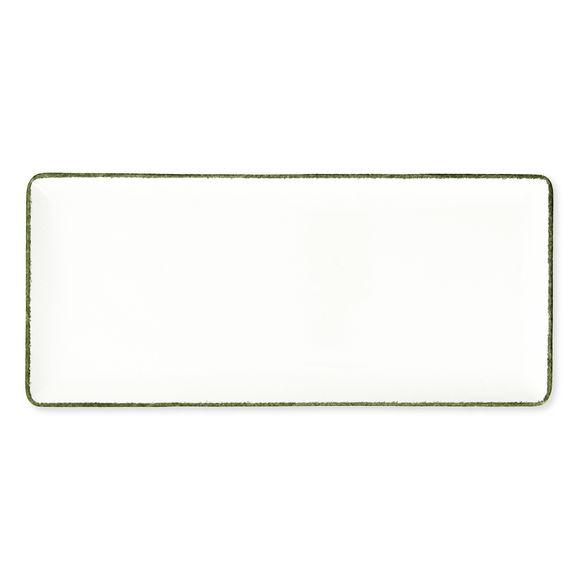 Plat rectangulaire en porcelaine 29x13cm