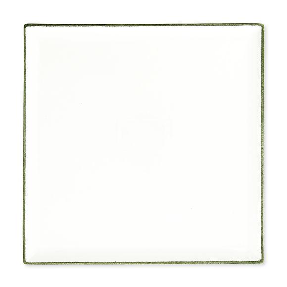 Plat carré en porcelaine 30x30cm