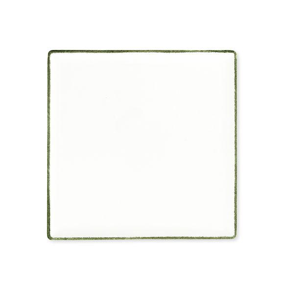 Plat carré en porcelaine 25x25cm