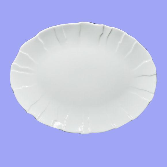 Plat ovale en porcelaine 33x25cm