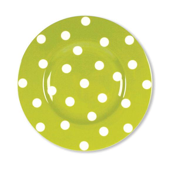 Assiette dessert vert anis en porcelaine 22cm