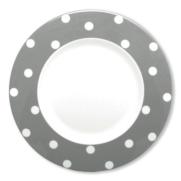 Assiette plate gris en porcelaine 29cm