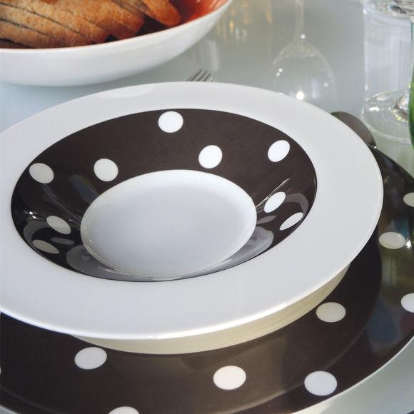 assiette creuse d cor moderne 24cm vaisselle design et tendance. Black Bedroom Furniture Sets. Home Design Ideas