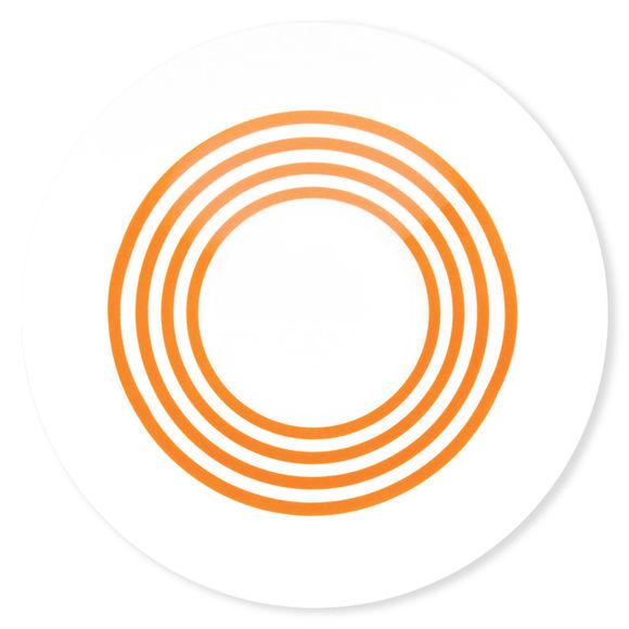 Assiette creuse à rayures orange en porcelaine 24cm