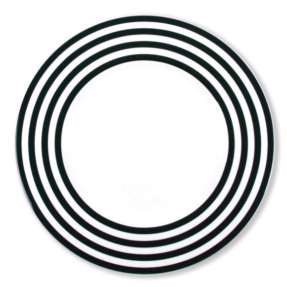 Assiette plate noir en porcelaine 29cm