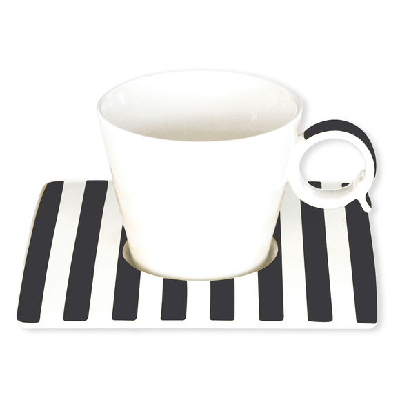 Tasse à café noir en porcelaine 12cl