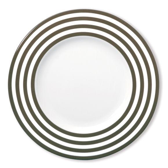 Assiette plate taupe en porcelaine 29cm