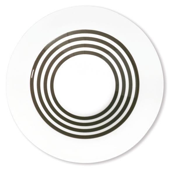 Assiette creuse taupe en porcelaine 24cm