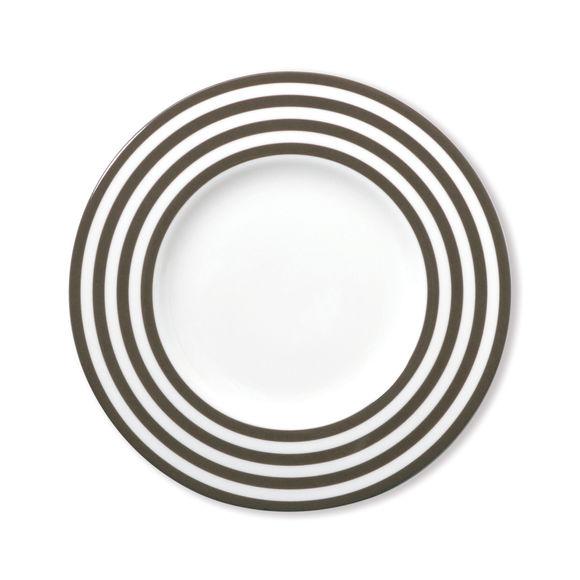 Assiette dessert taupe en porcelaine 22cm