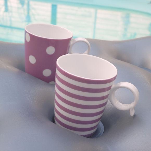 mug en porcelaine color e violet vaisselle tendance et. Black Bedroom Furniture Sets. Home Design Ideas