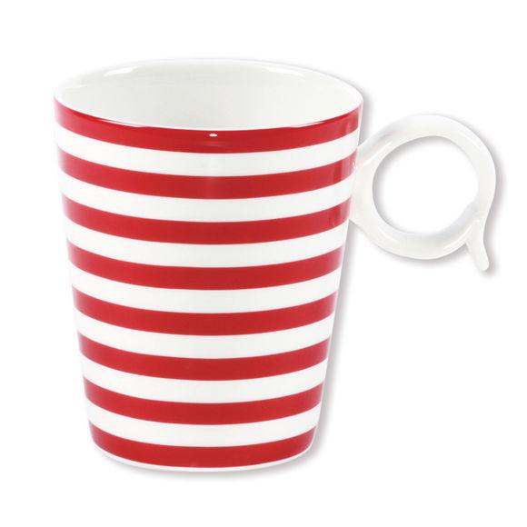 Mug rouge en porcelaine 32cl