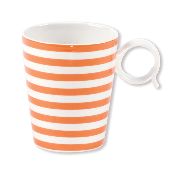 Mug orange en porcelaine 32cl