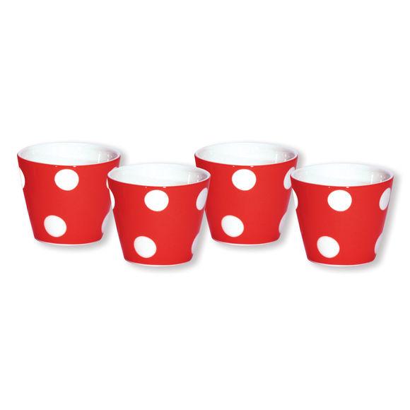 Gobelet expresso rouge en porcelaine 10cl