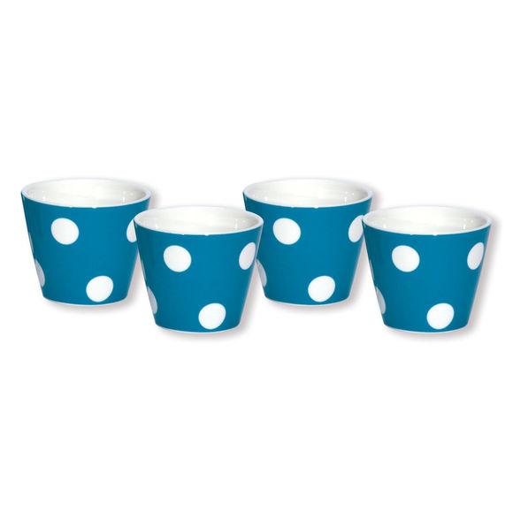 Gobelet expresso turquoise en porcelaine 10cl