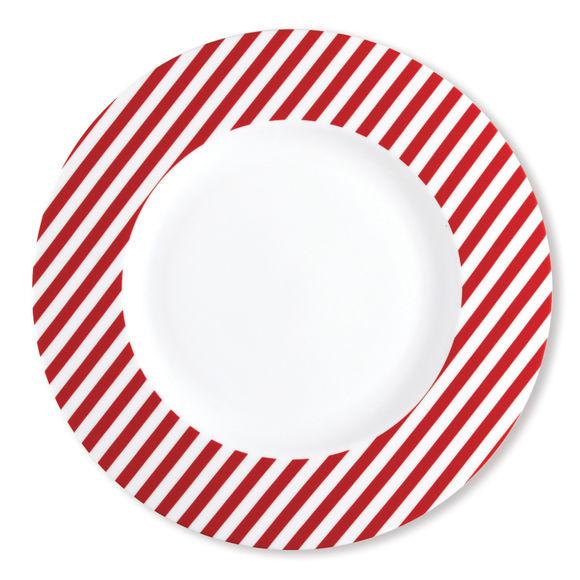 FRESHNESS STRIPE rouge assiette plate