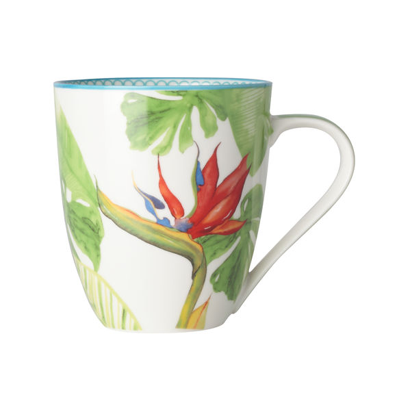 Mug en porcelaine décor tropical 50cl