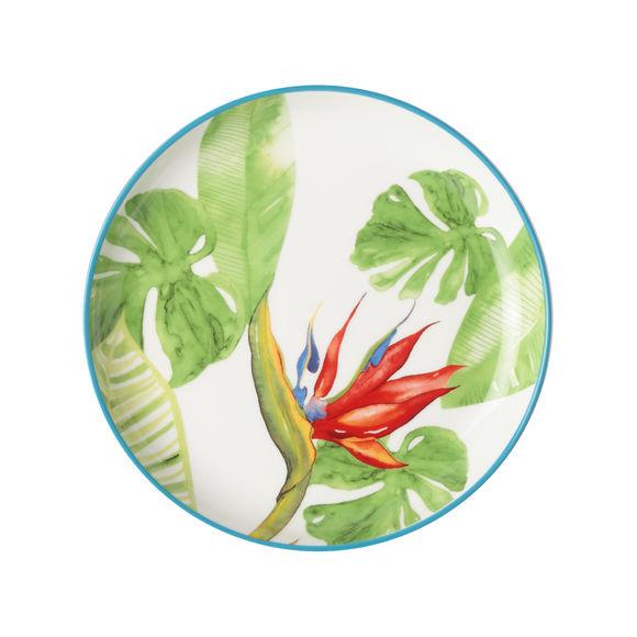 Assiette à dessert décor tropical 18cm