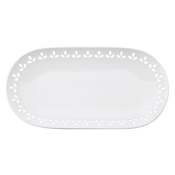 Plat à cake en porcelaine 39x20cm