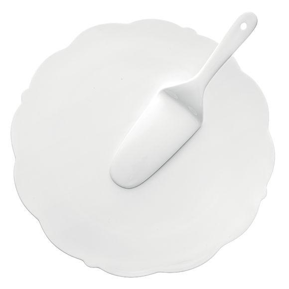 Plat à tarte avec pelle en porcelaine 33cm