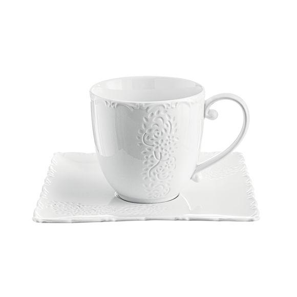 Tasse à déjeuner en porcelaine 45cl