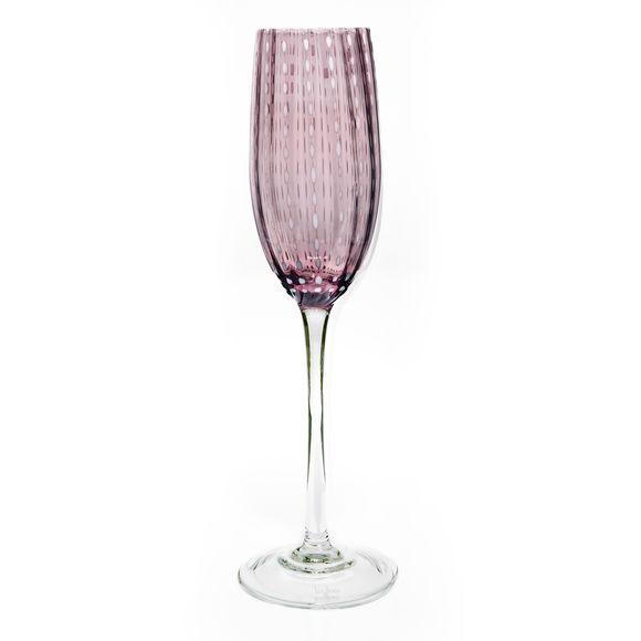 Flûte à champagne en verre rose 20cl
