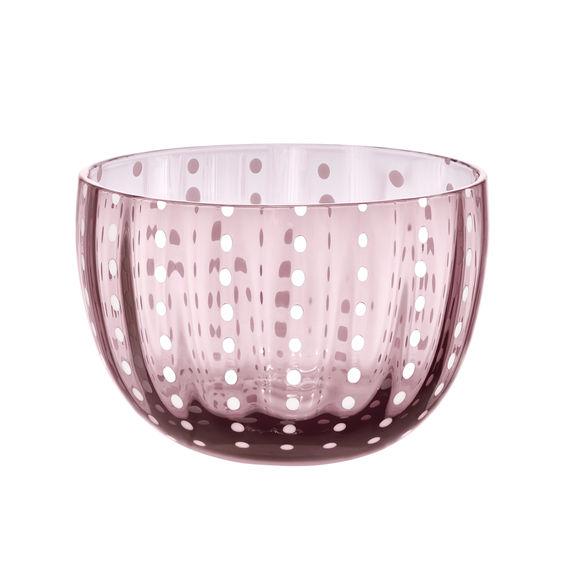 Coupelle en verre soufflé bouche rose 10cm