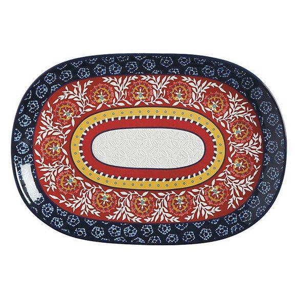 Plat ovale en céramique 40x28cm